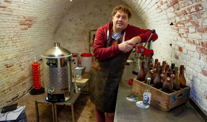 comeniusbier in naarden - In kazemat C' op basion Nieuw Molen wordt bier gebrouwen.