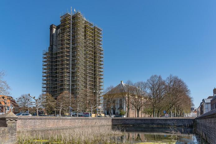Grote toren Zierikzee - Opbouw van de steiger voltooid