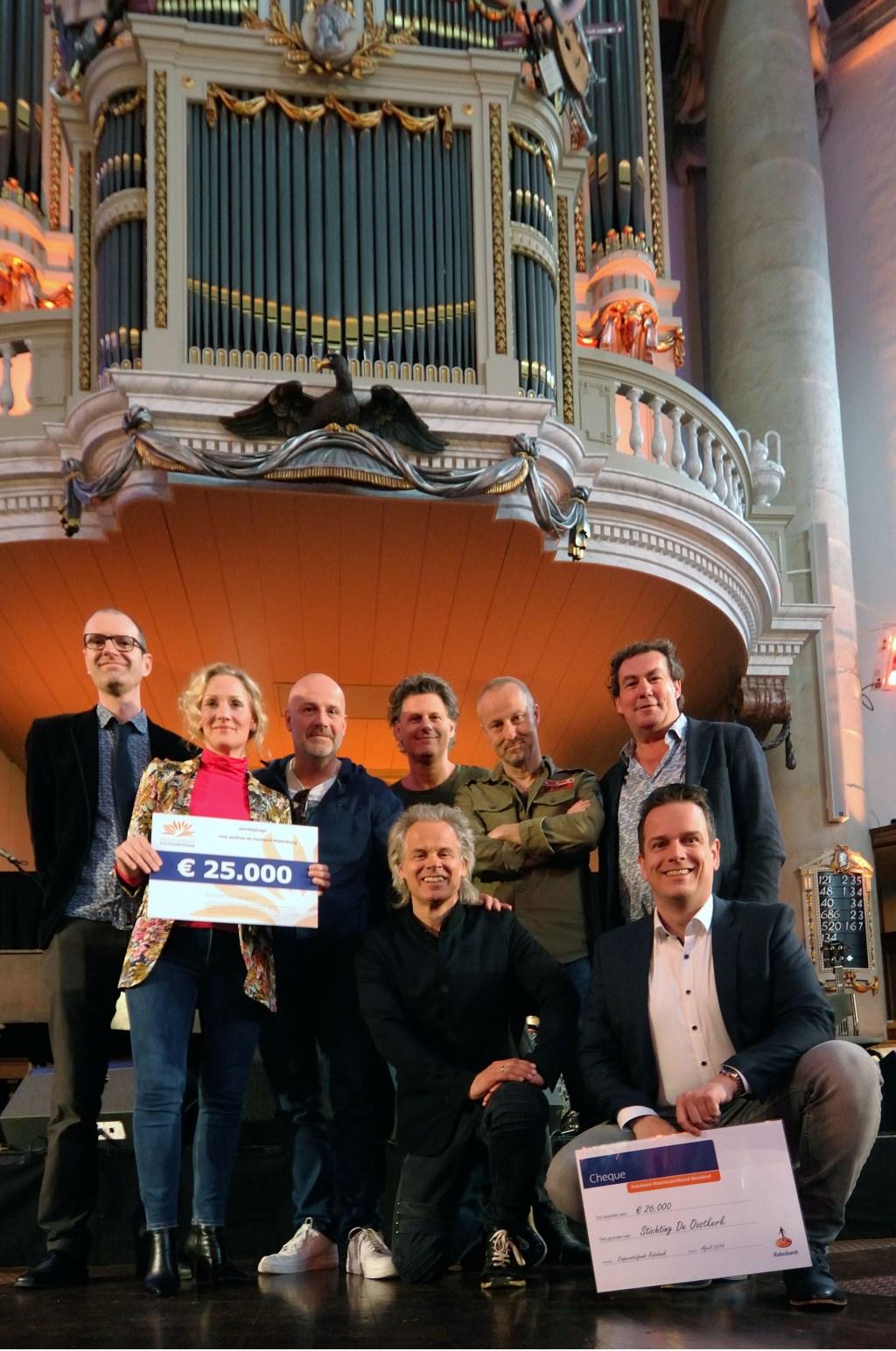 Opbrengst Benefiet Oostkerk - Mede dankzij Bløf, de Rabobank en het Prins Bernard Cultuurfonds.
