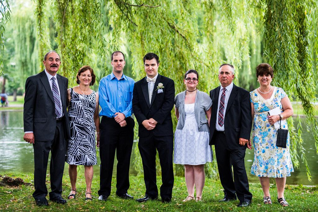 boston public garden wedding group