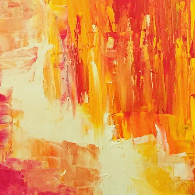 Work in Progress #art #amman #middle east #creative #orange #oilpaint #canvas #painting #beauty #jordan #colors