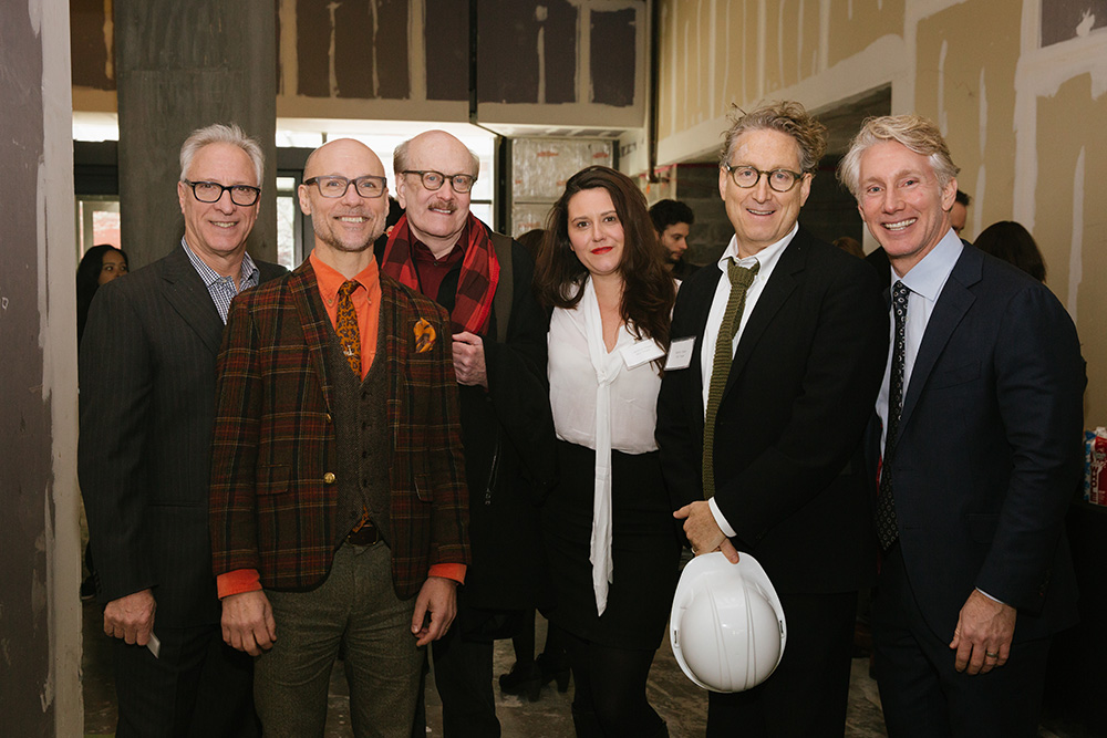 Robert LuPone, Will Cantler, Stephen Willems, Jessica Chase, Bernie Telsey and Blake West at the groundbreaking for MCC Theater's new home. Photo by Da Ping Luo.