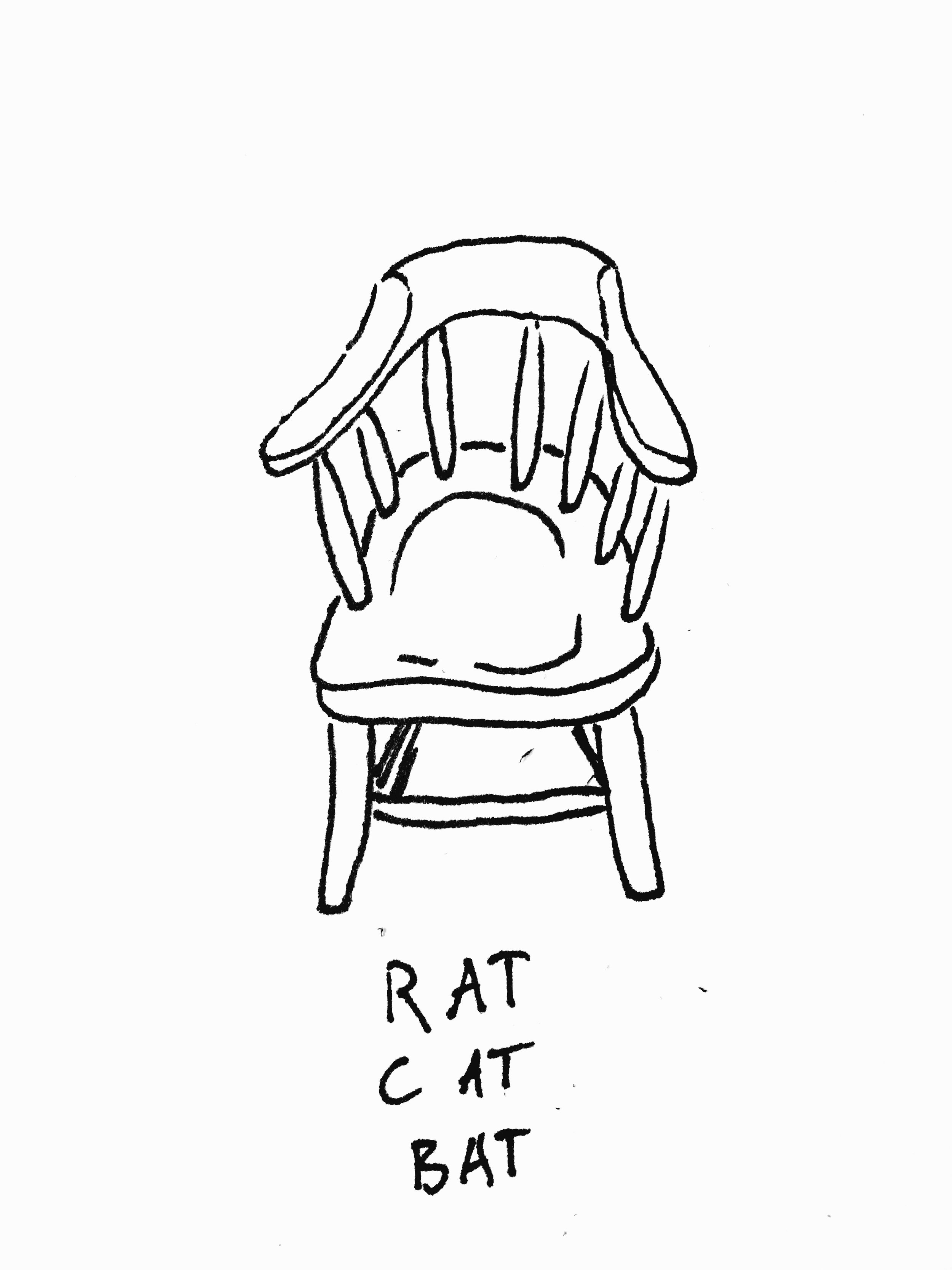 """chair: rat cat bat"" (June 4, 2017)"