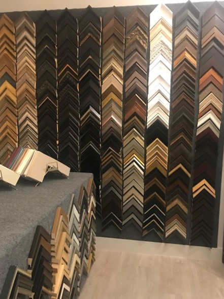 We utilize a variety of local and national frame and matboard suppliers.