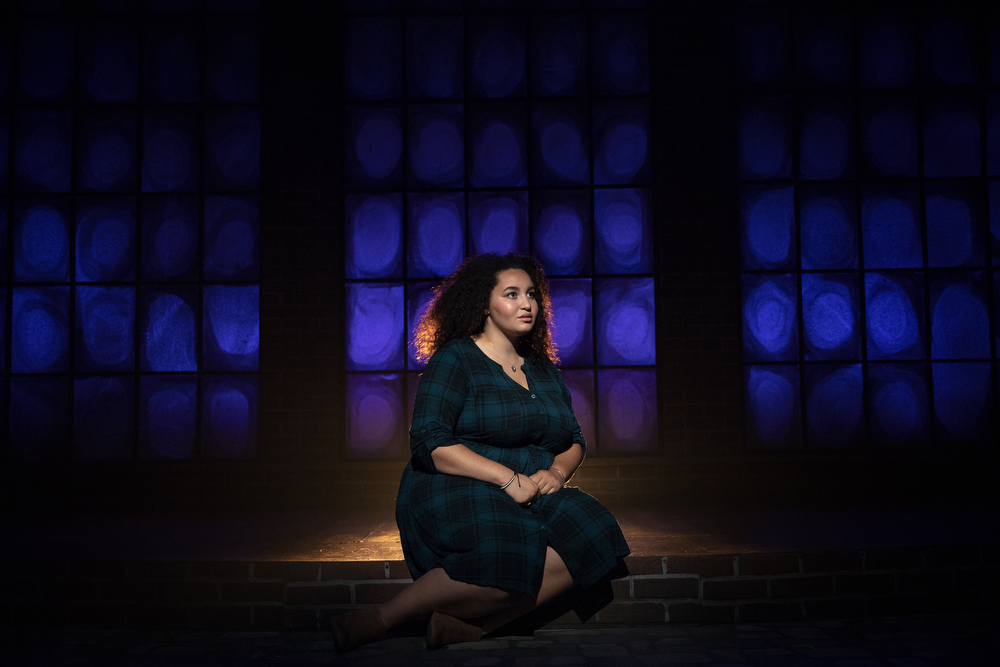 "Bridget Adams-King poses for a portrait on the set of ""Haymarket"" at Theater Wit Monday, Aug. 20, 2018, in Chicago. Adams-King, who plays Lucy Parsons in the production, is one of the Chicago Tribune's Hot New Faces of Chicago Theater 2018. (Erin Hooley/Chicago Tribune)"