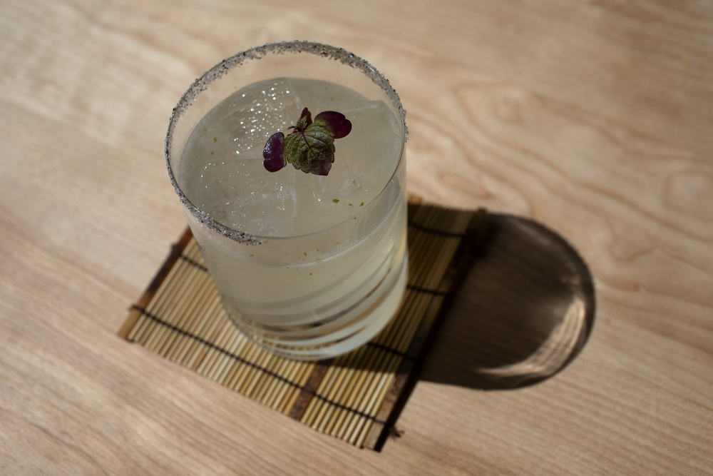 "The Sea Flower cocktail is made with Akashi ""White Oak"" Whisky, Drapo Vermouth Bianco, Yuzu Kosho, Kabosu and lime at Kumiko restaurant Tuesday, July 9, 2019, in Chicago. (Erin Hooley/Chicago Tribune)"