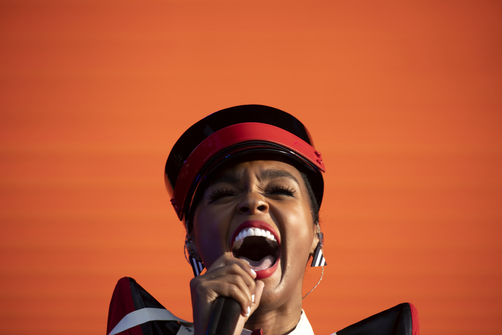 Janelle Monáe performs at Lollapalooza Friday, August 2, 2019, in Chicago. (Erin Hooley/Chicago Tribune)