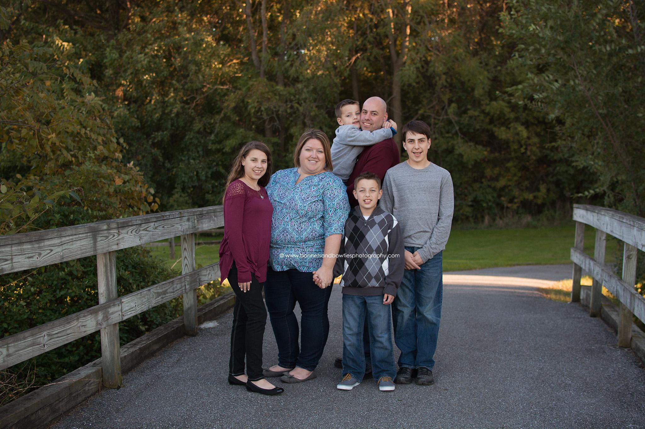 bridge picture family session