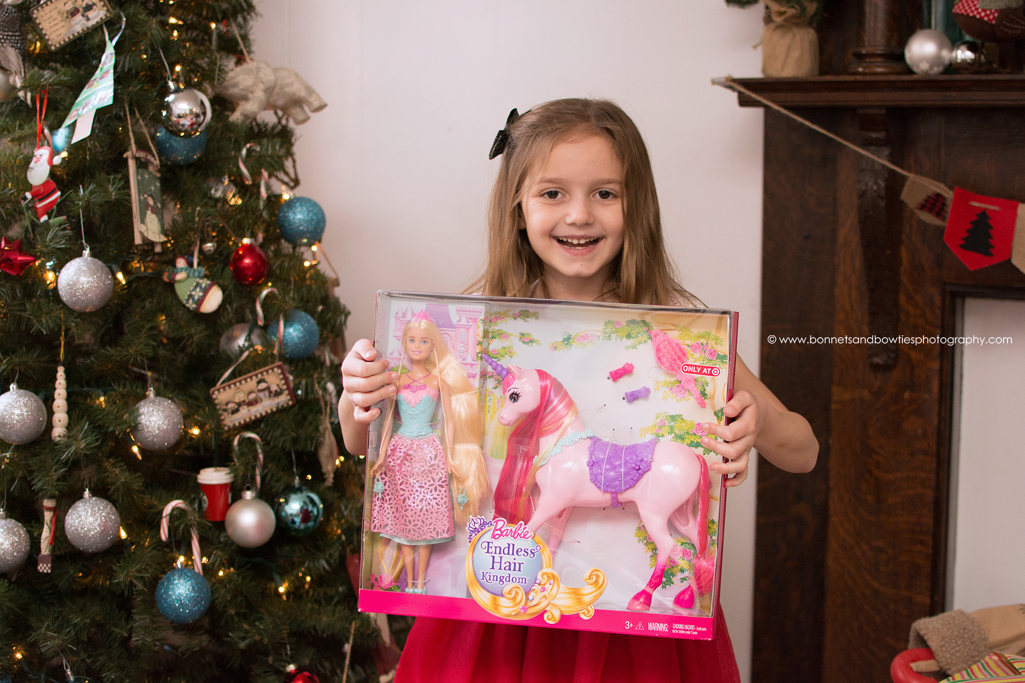 pink Barbie horse Christmas Day