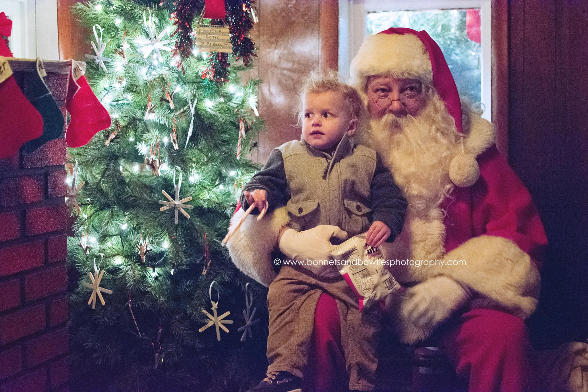 boy with Santa