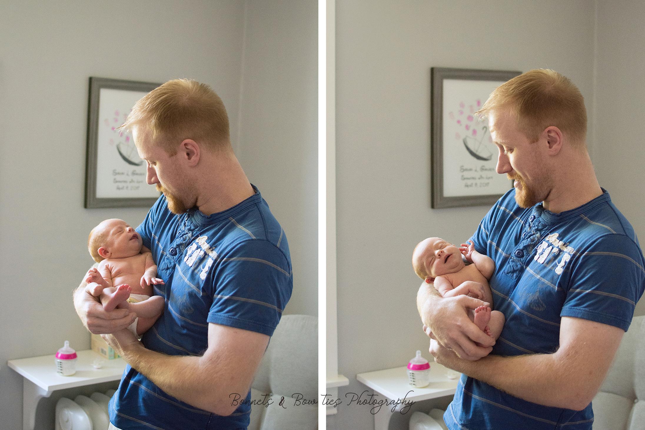 Daddy and newborn baby girl york pa
