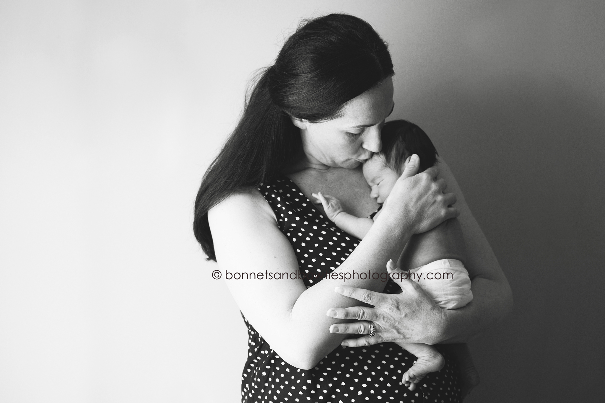 black and white portrait mother and baby york pa.jpg