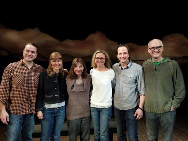 The Cast of Abundance with Beth Henley (Ted Koch, Kelly McAndrew, Beth Henley, Tracy Middendorf, Todd Lawson, Jeff Talbott)