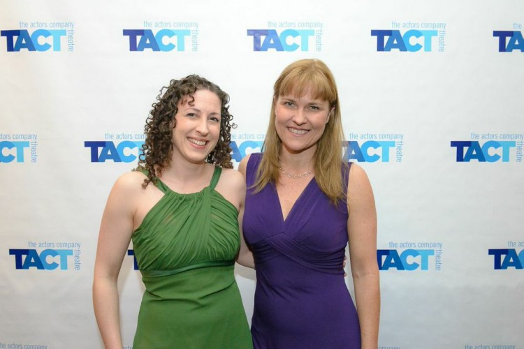 Erin Gioia Albrecht and Kelly McAndrew at the ABUNDANCE Opening, at TACT