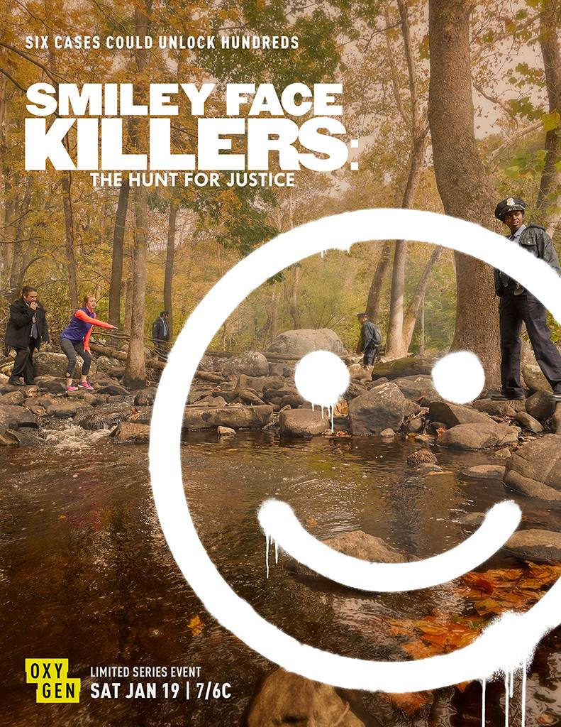 McKenna is the distressed jogger in this promo poster for Smiley Face Killers.
