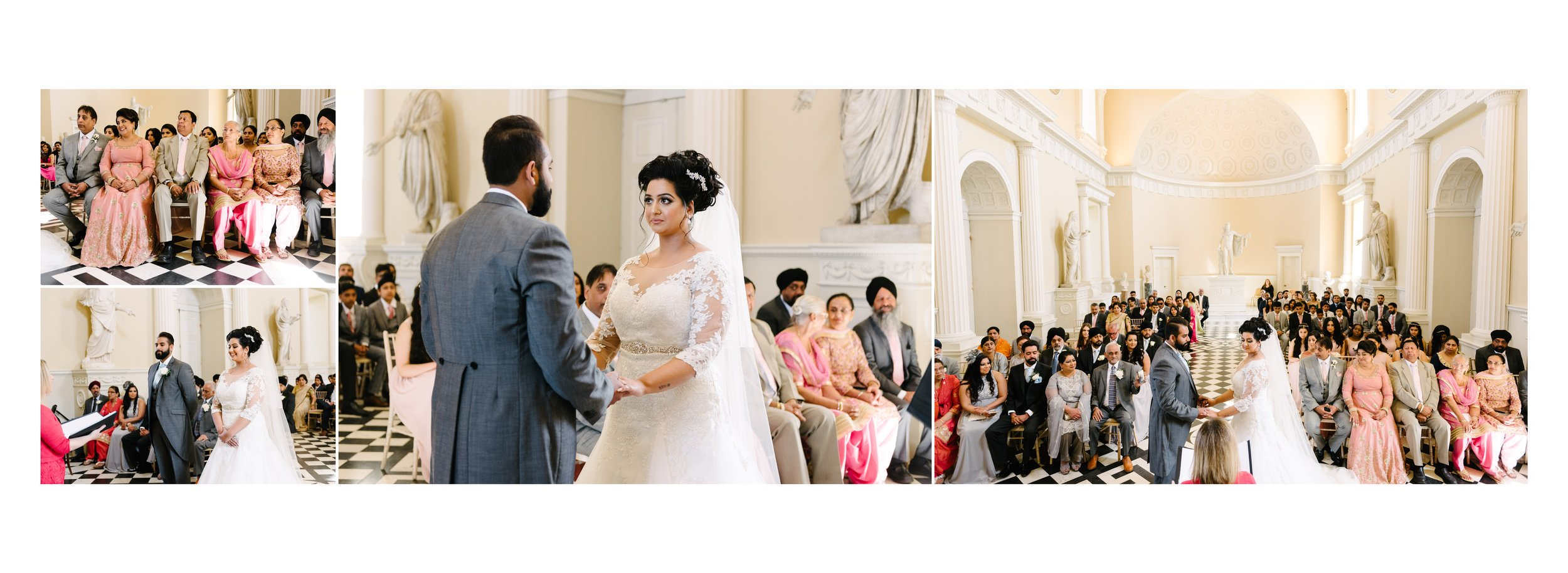 Terrie and Rahul looking Glam during their Civil Wedding at Syon House in London