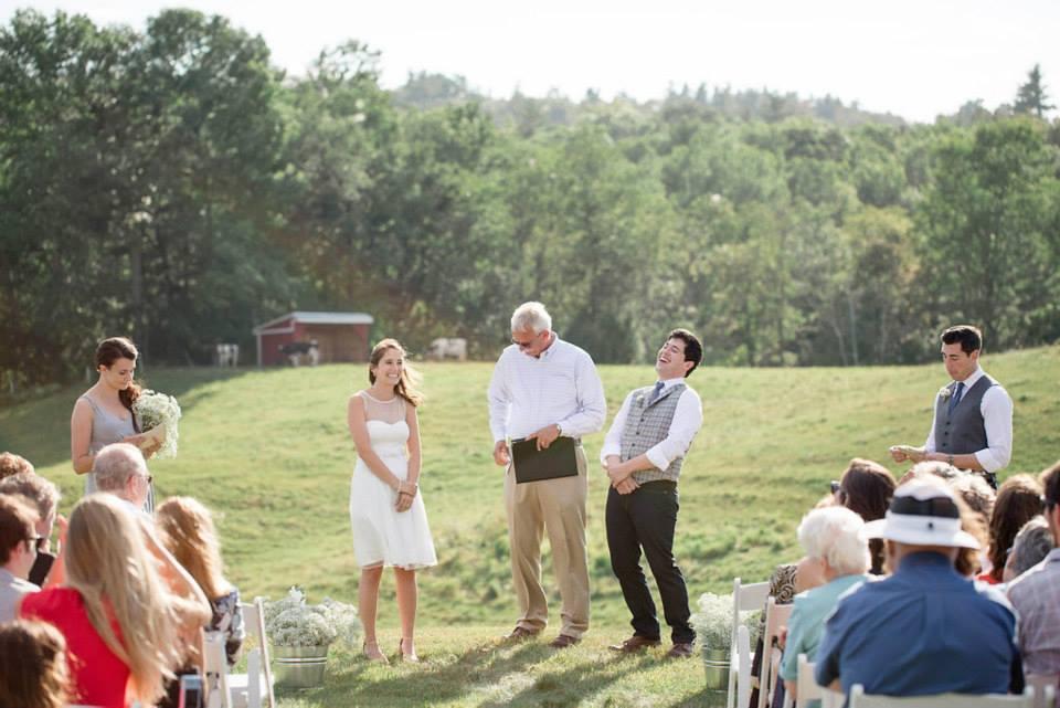 Hannah and Patrick got married at Pineland Farms