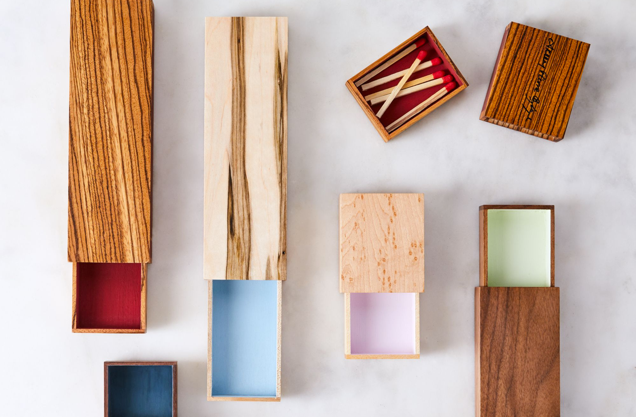 Food52 Wooden Match Box - Each matchbox is made from American-sourced wood that's been handpicked for its distinct and beautiful grain, and each has a strike strip on the back for perfect ignition with every match.