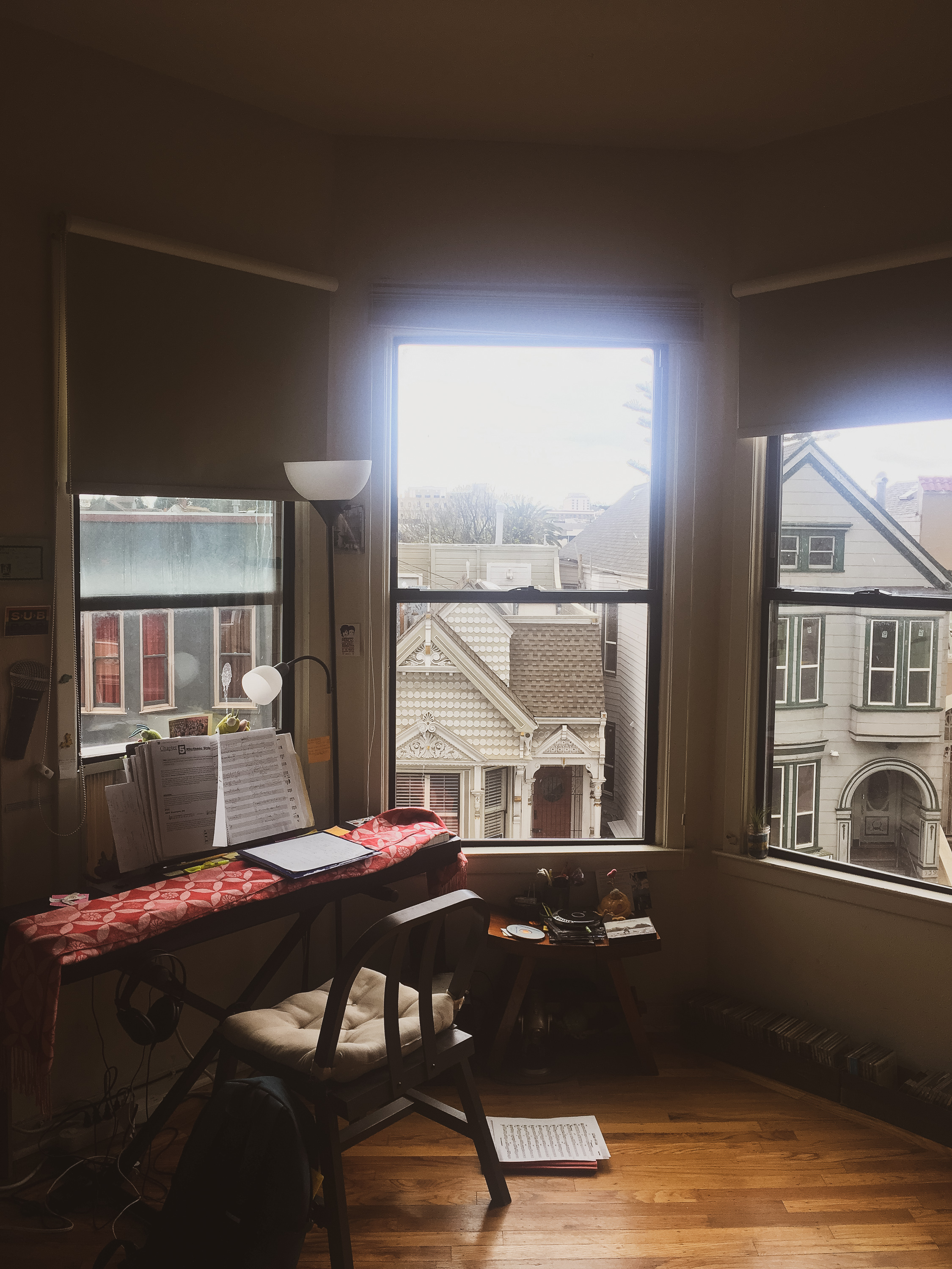 Noe Levy's living room and practice space