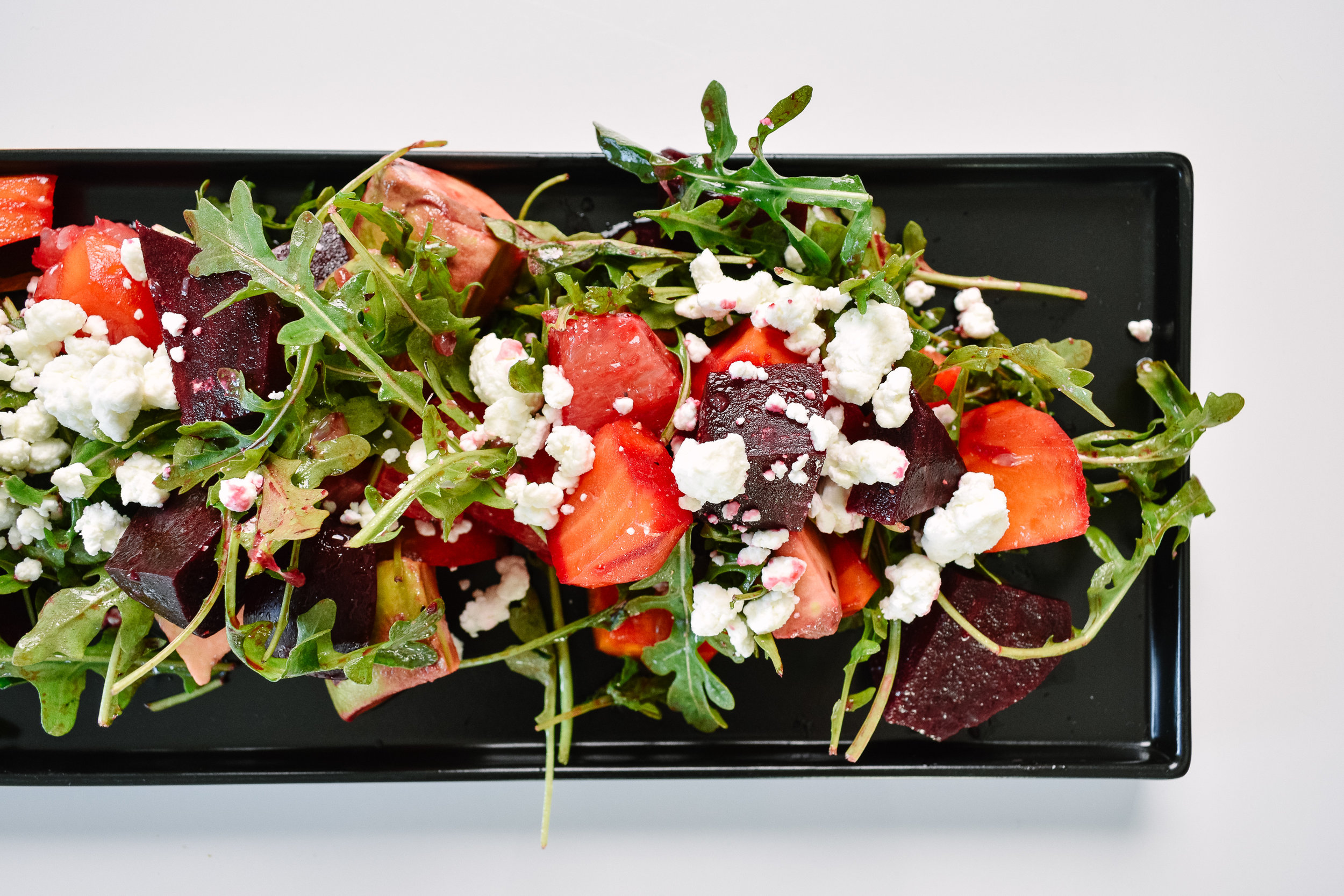 Beet and citrus salad with goat cheese