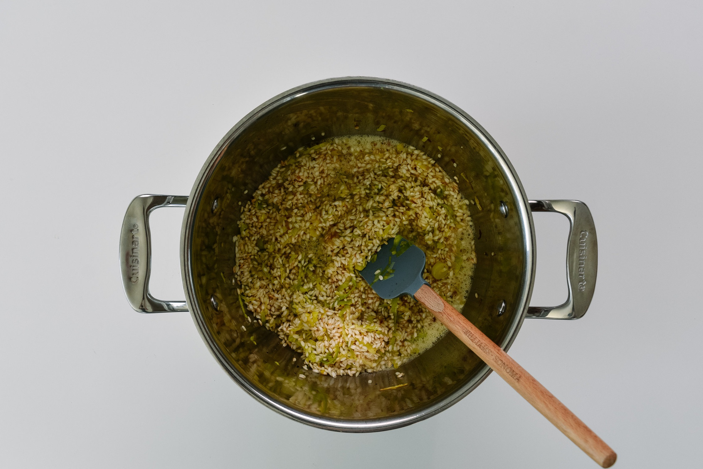 Leek and shiitake mushroom risotto