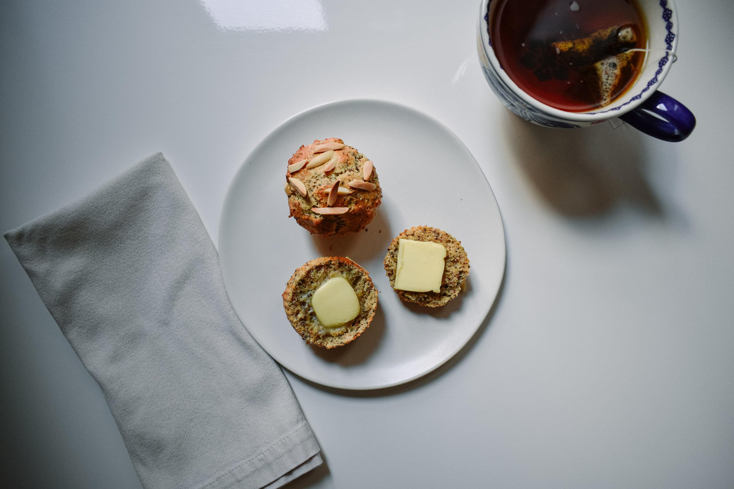 Almond flour protein muffins