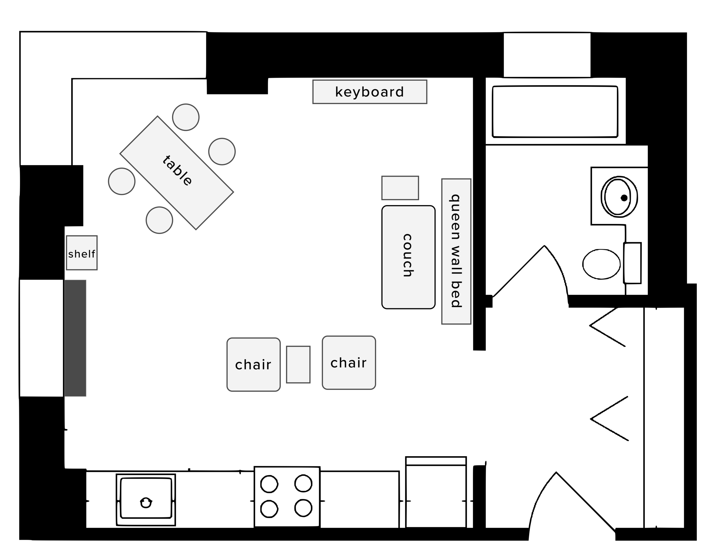 Dinner party layout