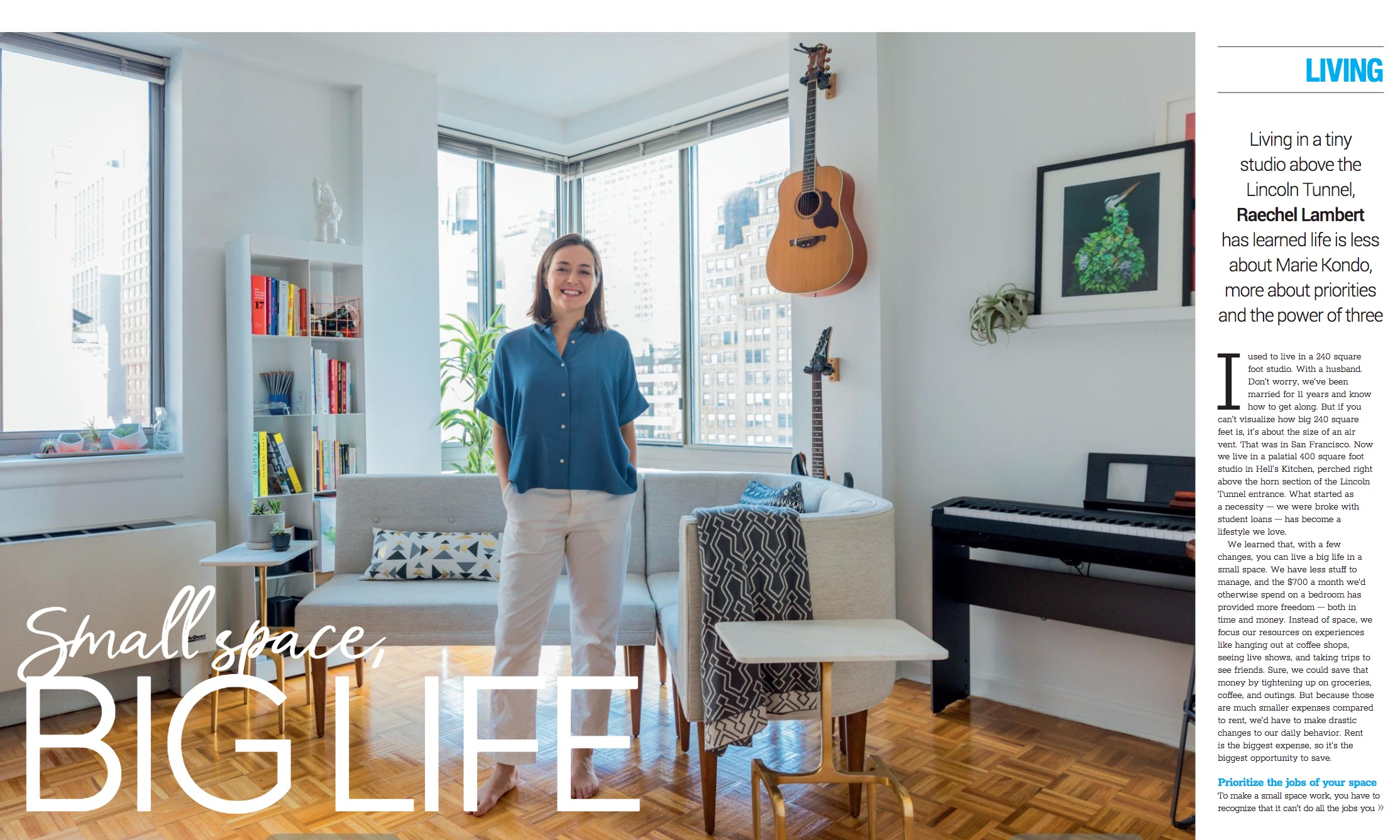 Small Space, Big Life - Article in w42st