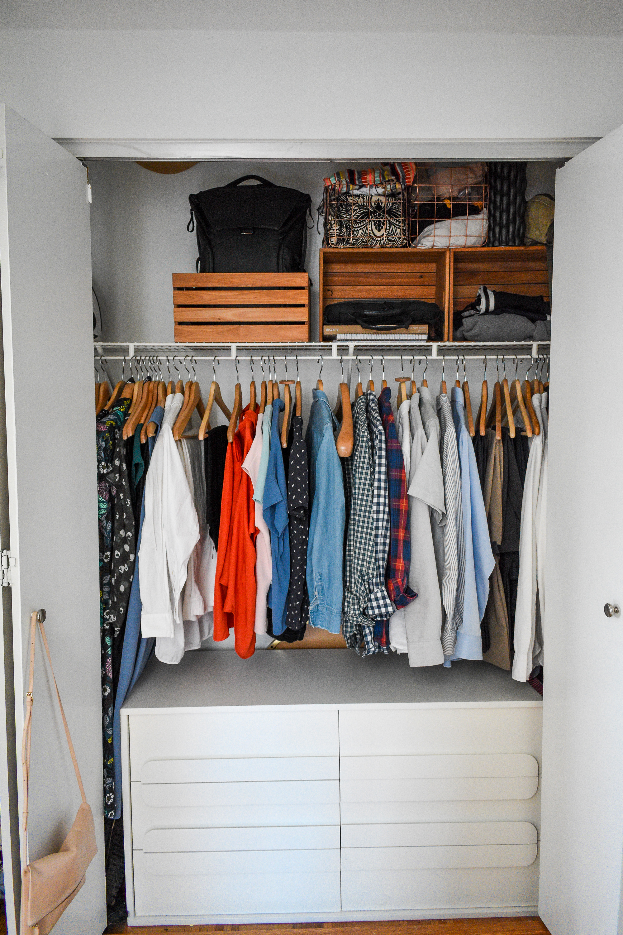 Two wardrobes, one closet