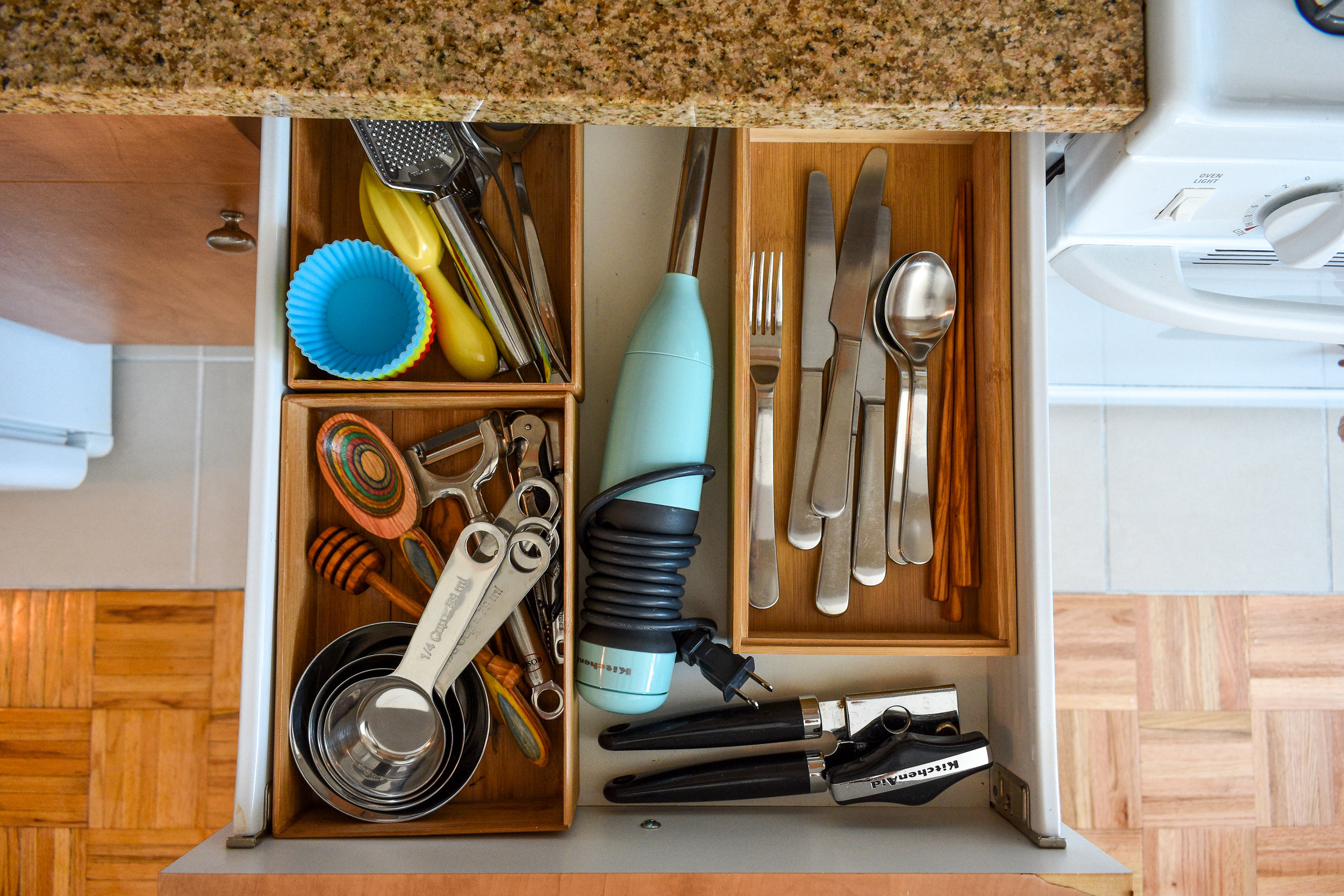 A tidy drawer