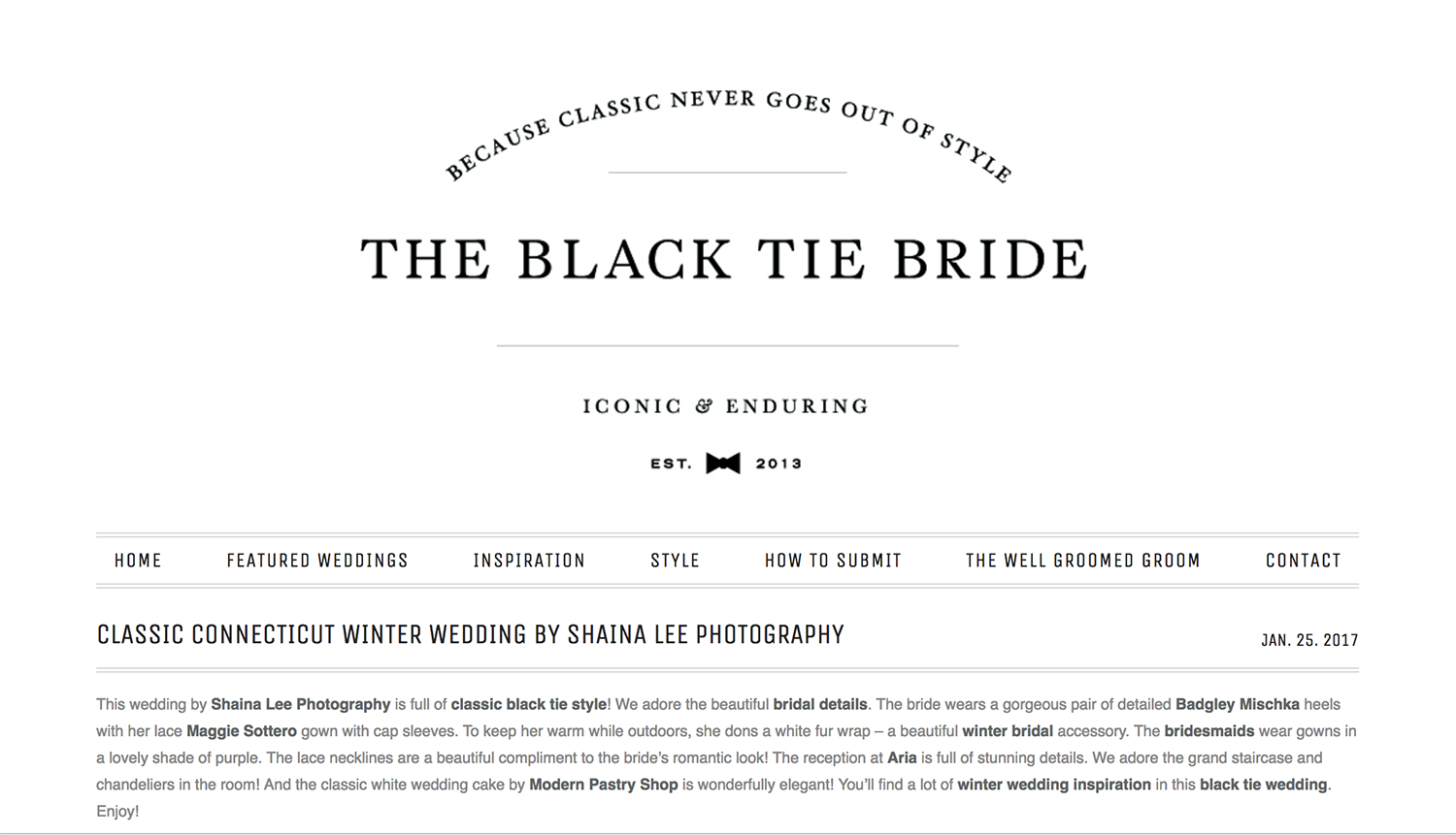Classic CT Winter Wedding | The Black Tie Bride | Shaina Lee Photography | CT + NY Luxury Wedding Photographer