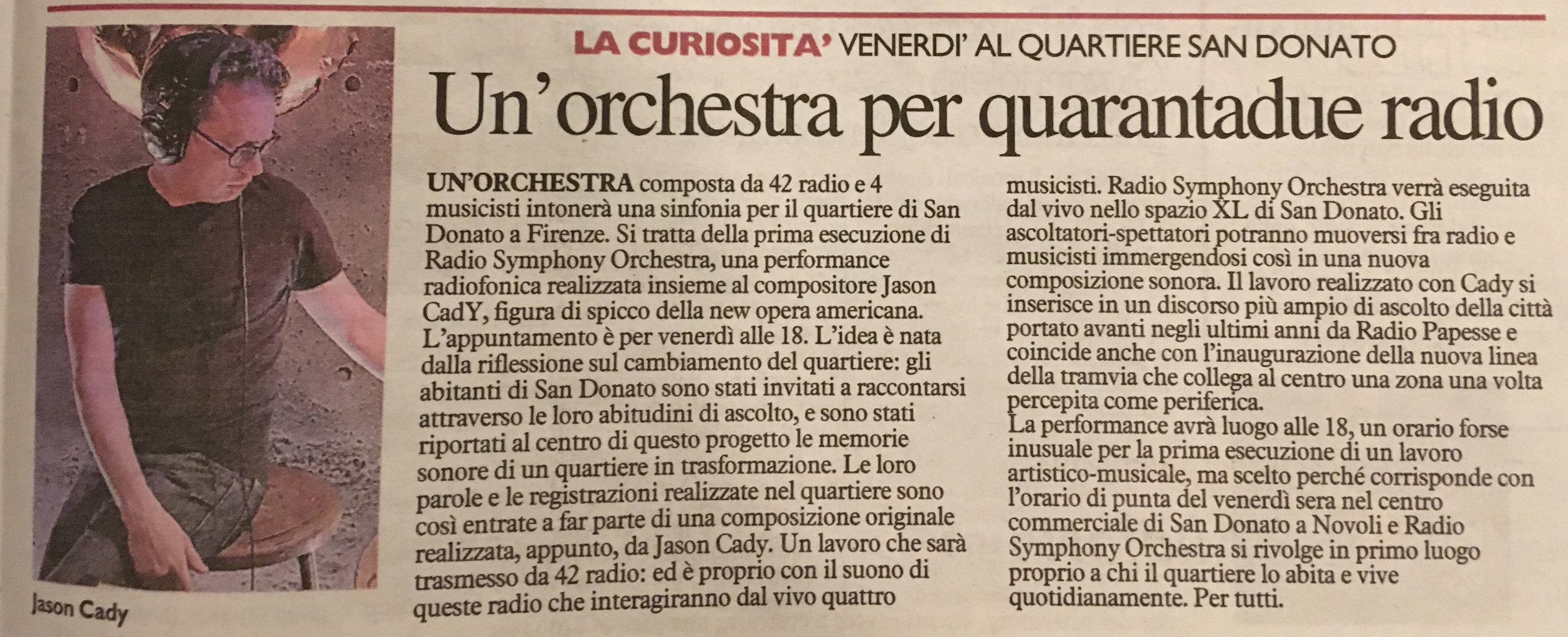 La Nazione, February 19, 2019