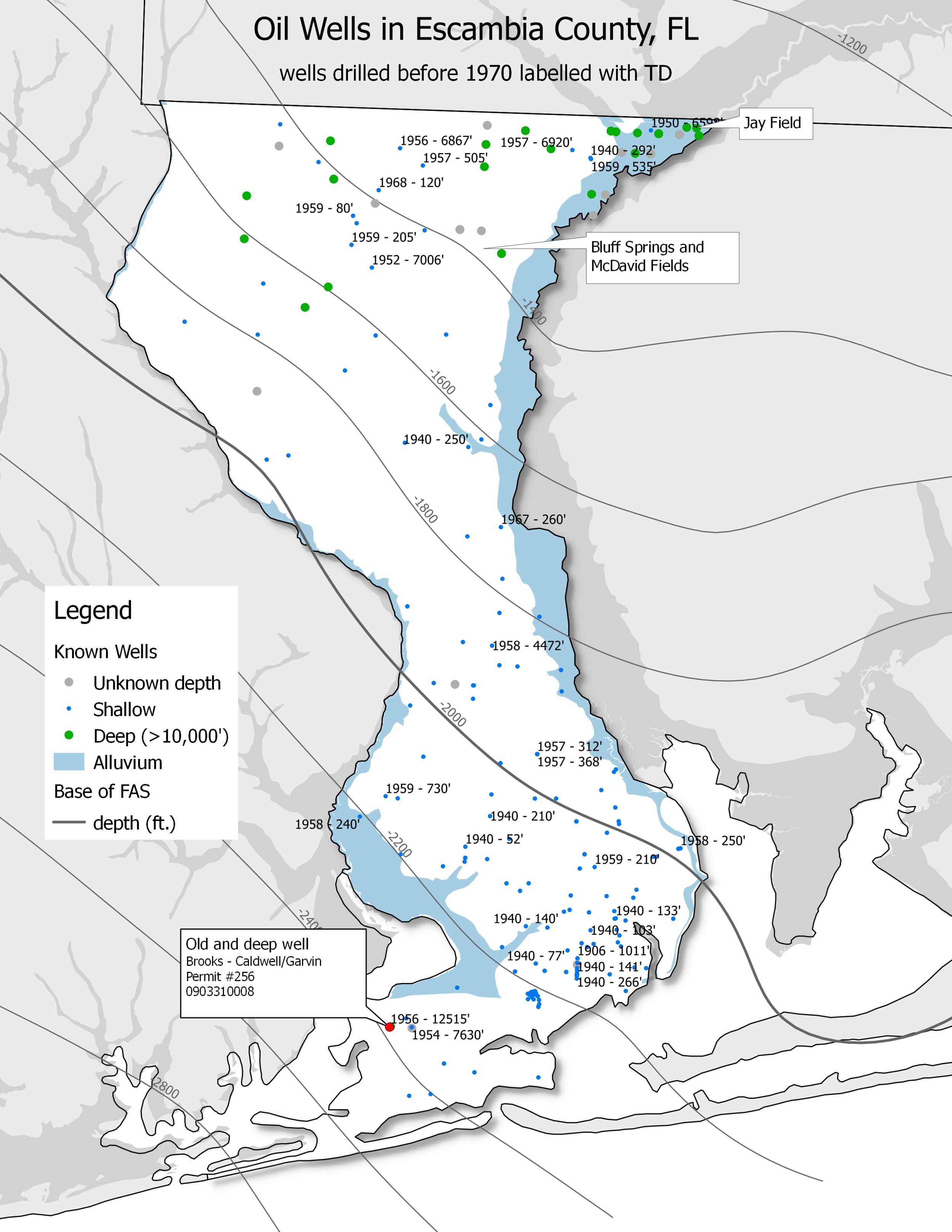 Map of oil wells (QGIS)