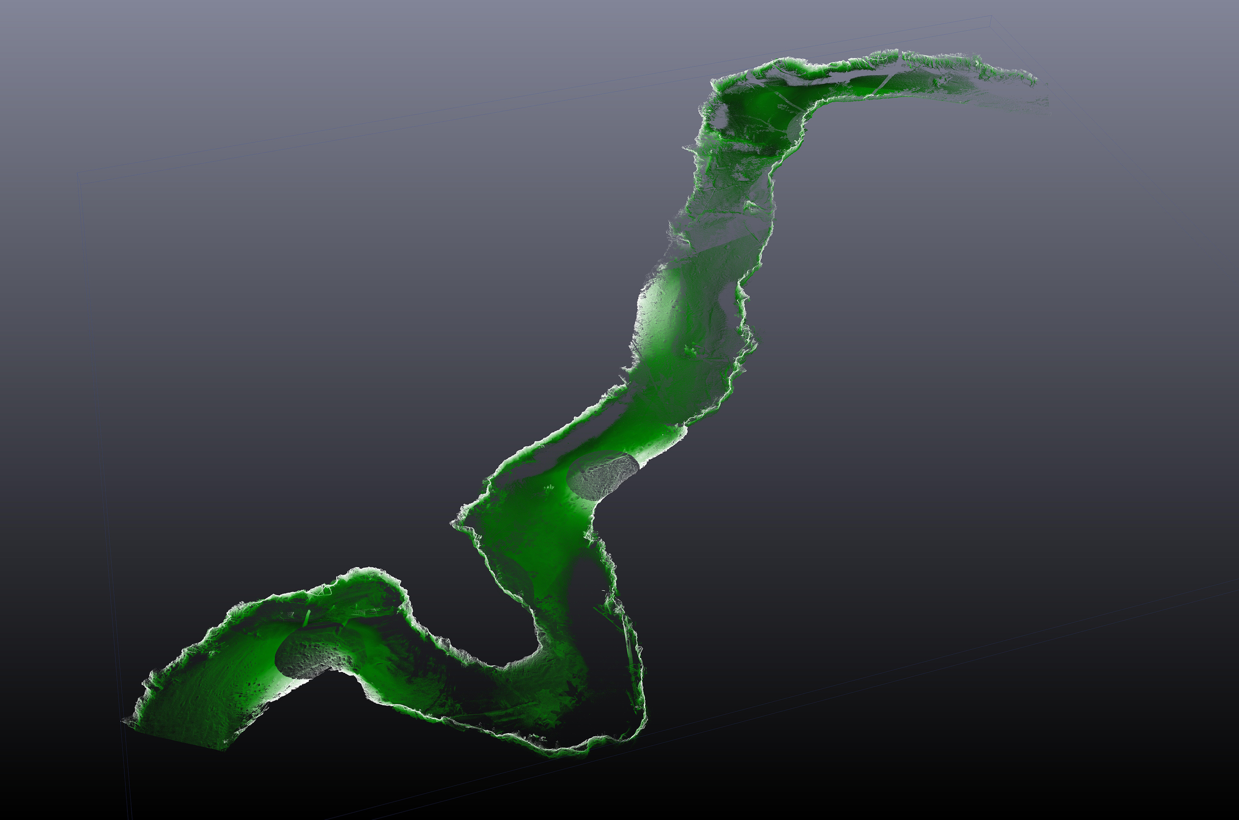 3-D Laser Scan of a stream channel