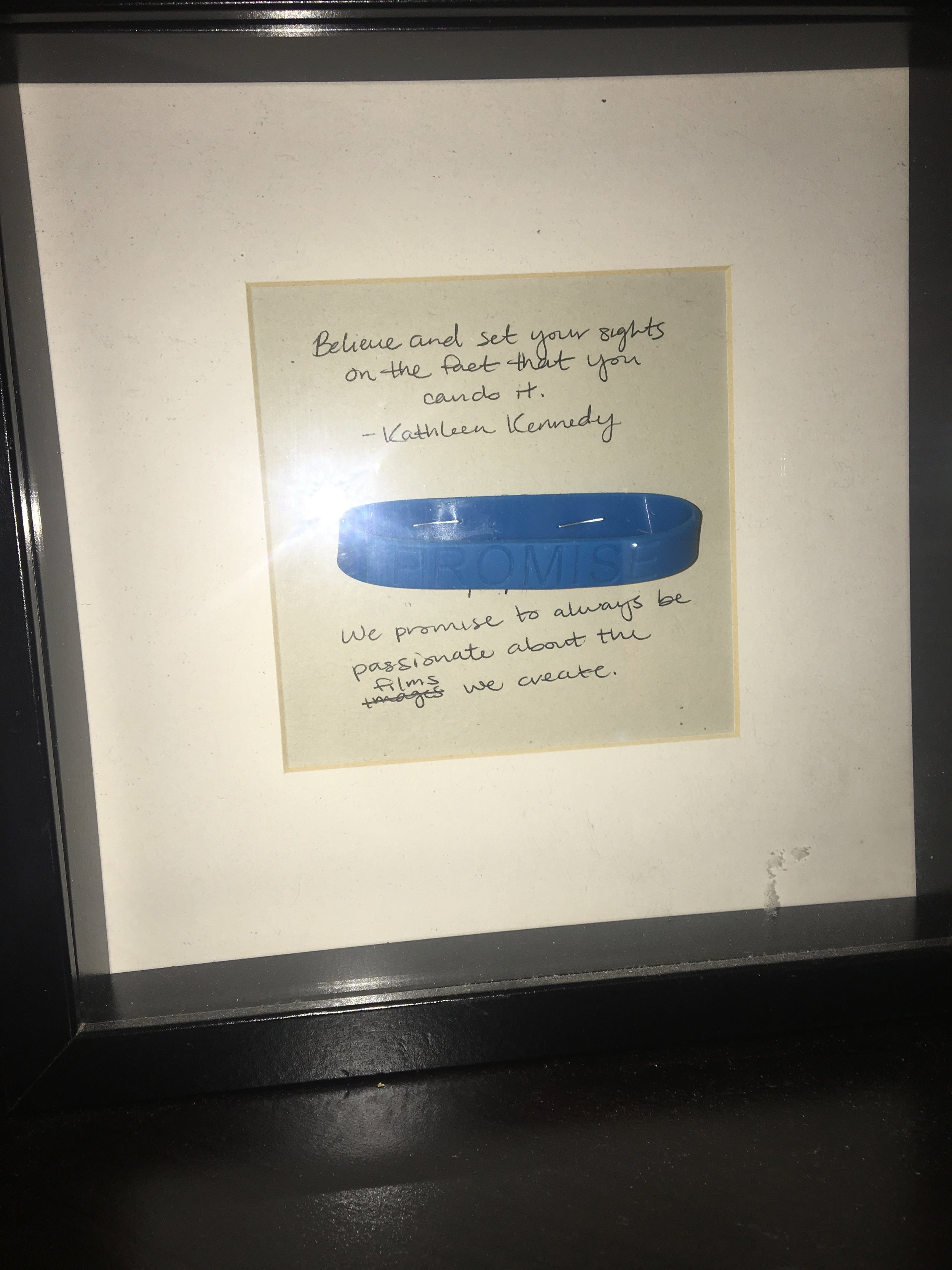 Chris made this for me for my birthday one year. It's always on my desk for inspiration.