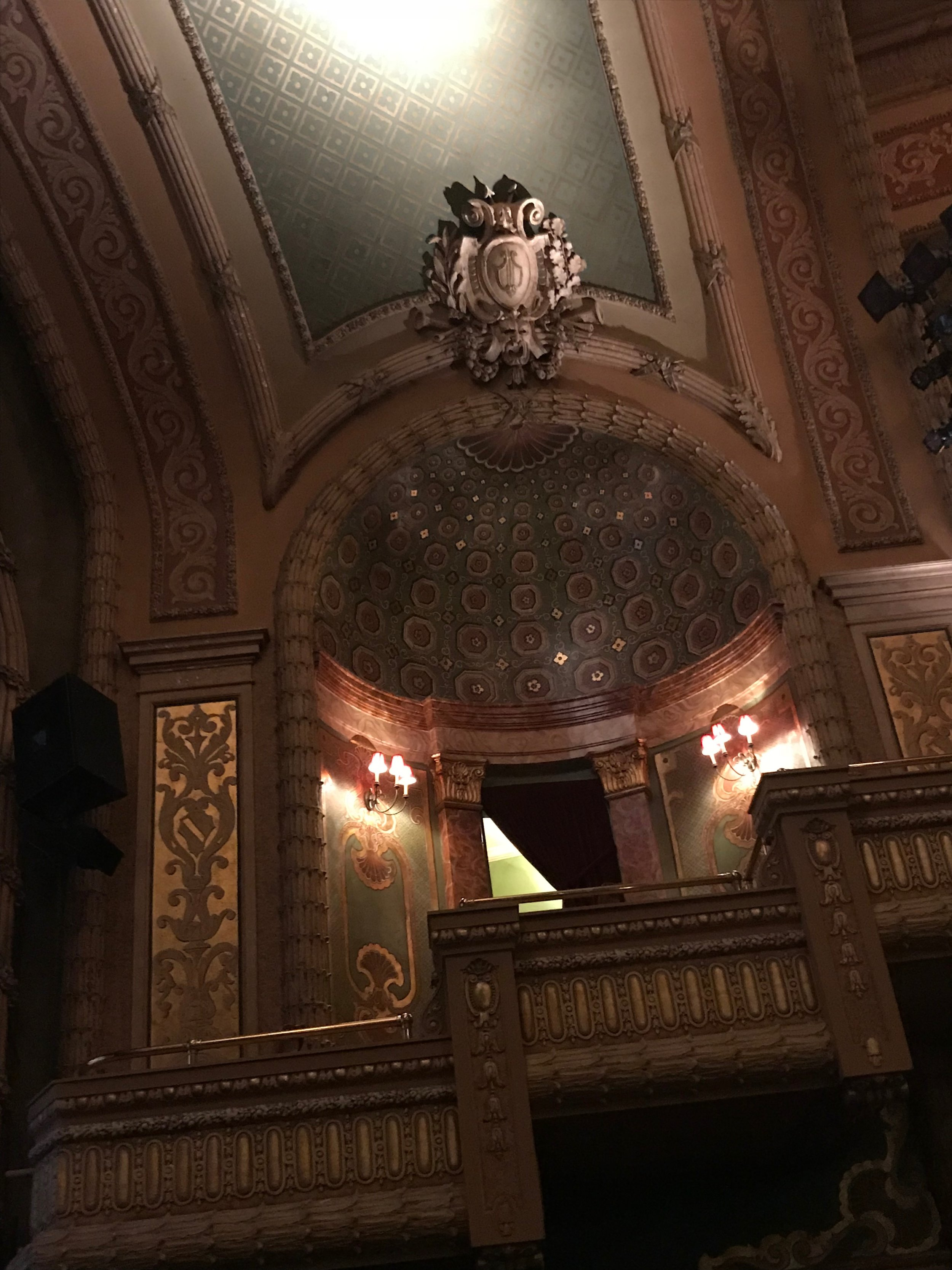 The balcony inside The Paramount- it's my dream to sit inside and be the Old Man Muppet that I was born to be!
