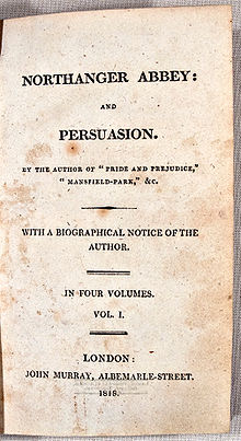 The original printing of the collection published after Jane's passing