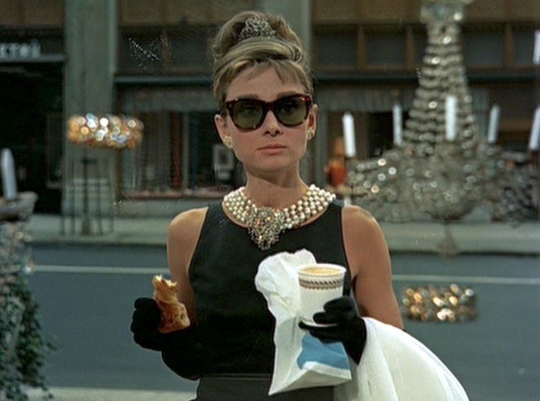 Audrey Hepburn & Holly Golightly go together like croissants and tiaras.