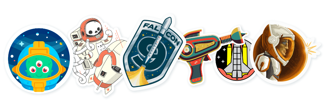 Space Mission No. 2 sticker Pack by Slaptastick.png