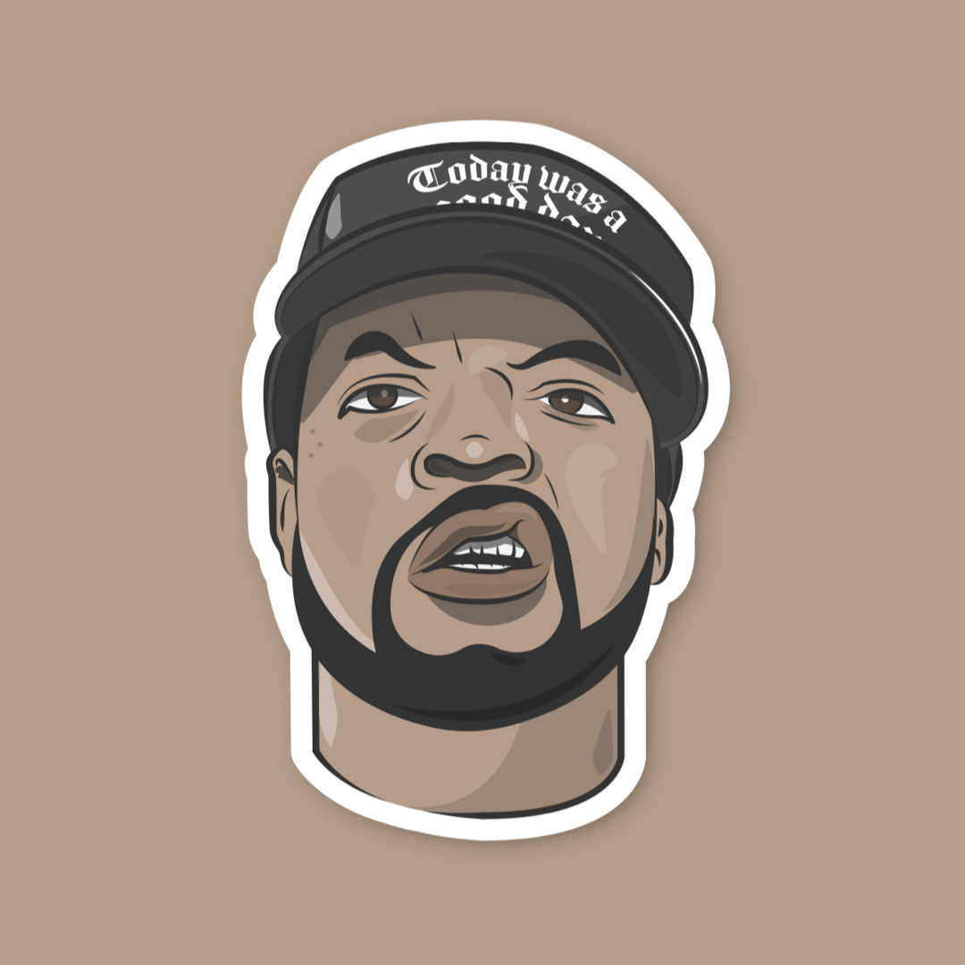 Ice Cube Hip Hop Sticker.PNG