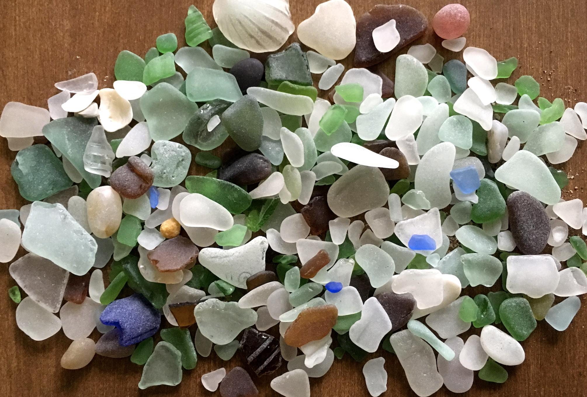 Author Lori Degman's sea glass.