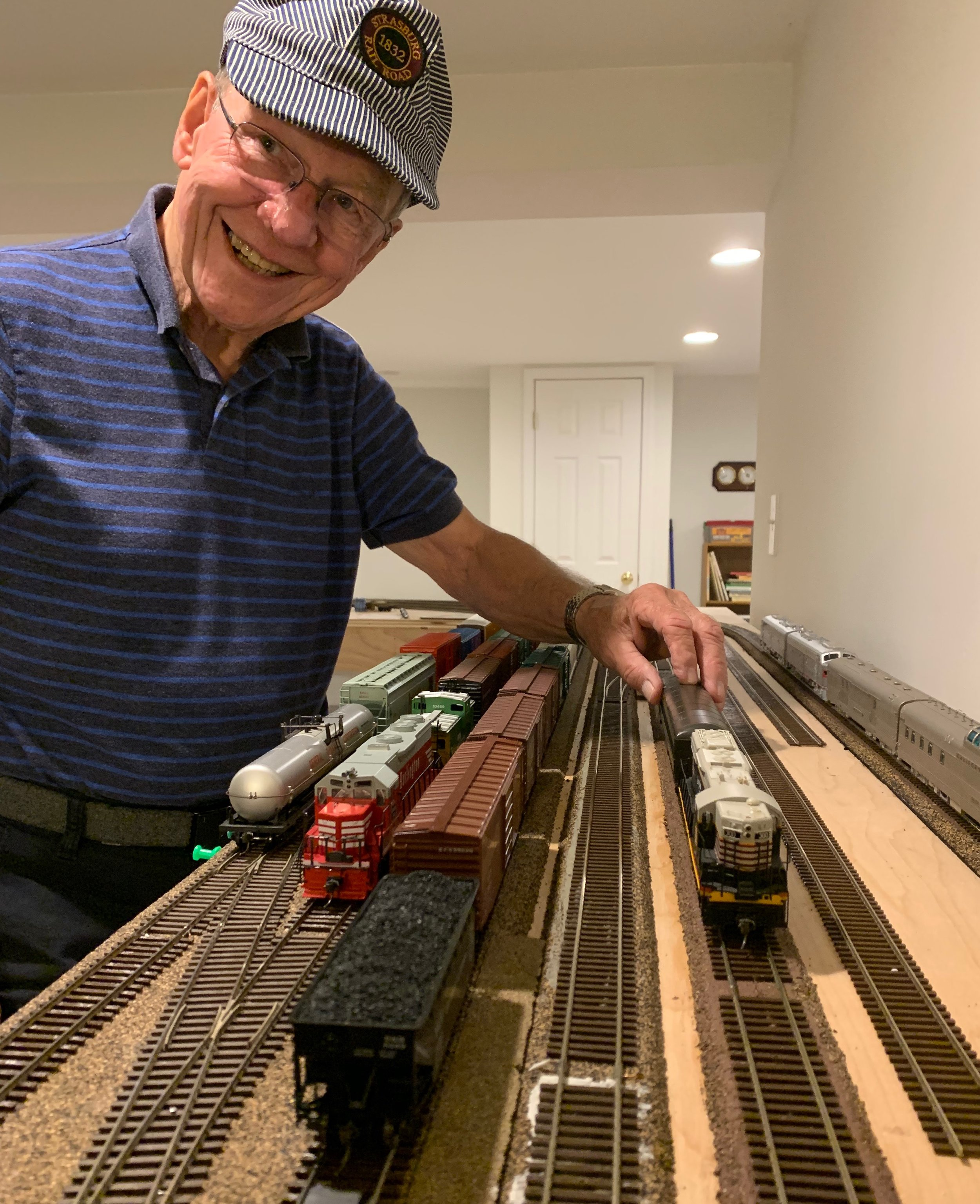My father-in-law's trains.