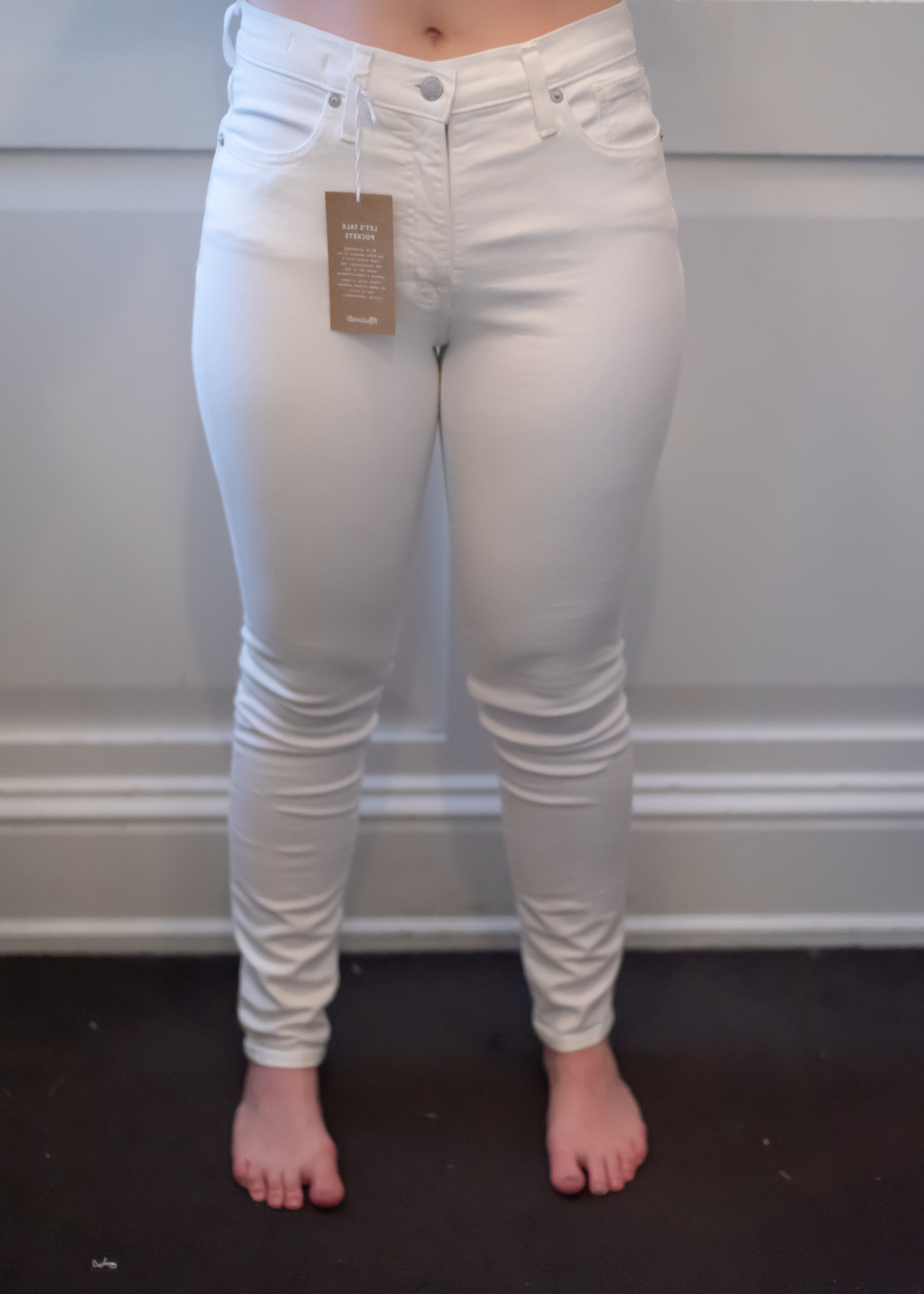 Madewell High Rise Skinny Jeans - Size 28 - Front View