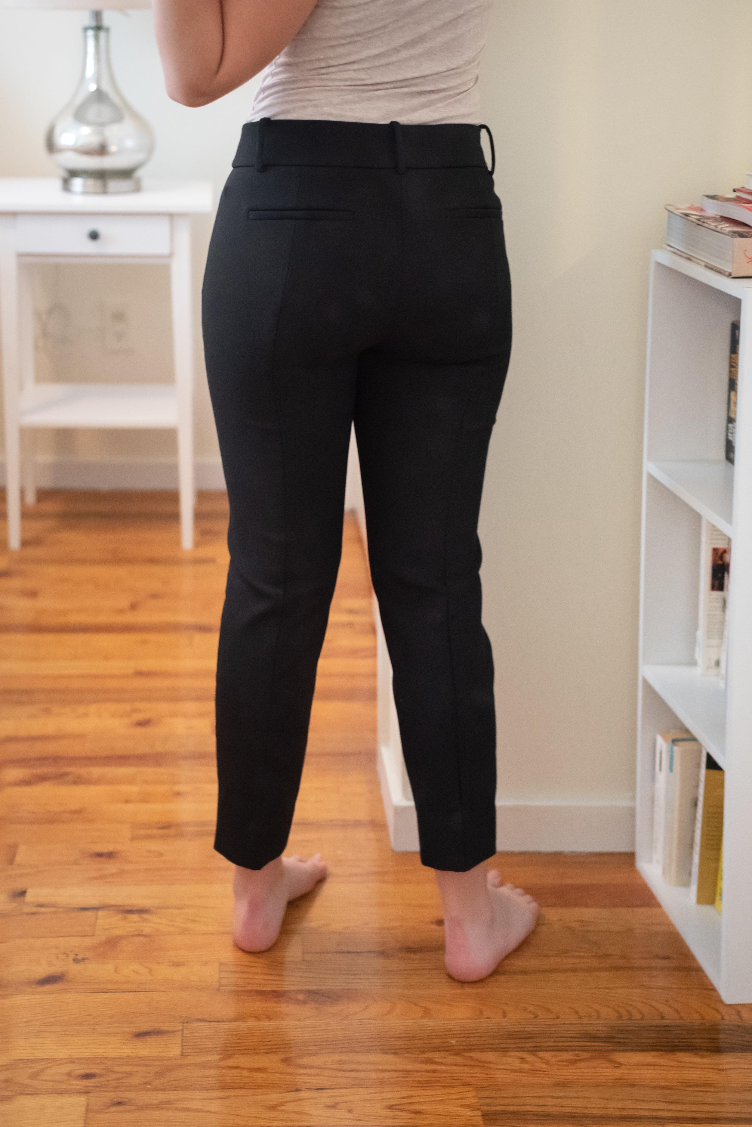 J. Crew Cameron Slim Crop Pant - Size 6 Petite - Back View
