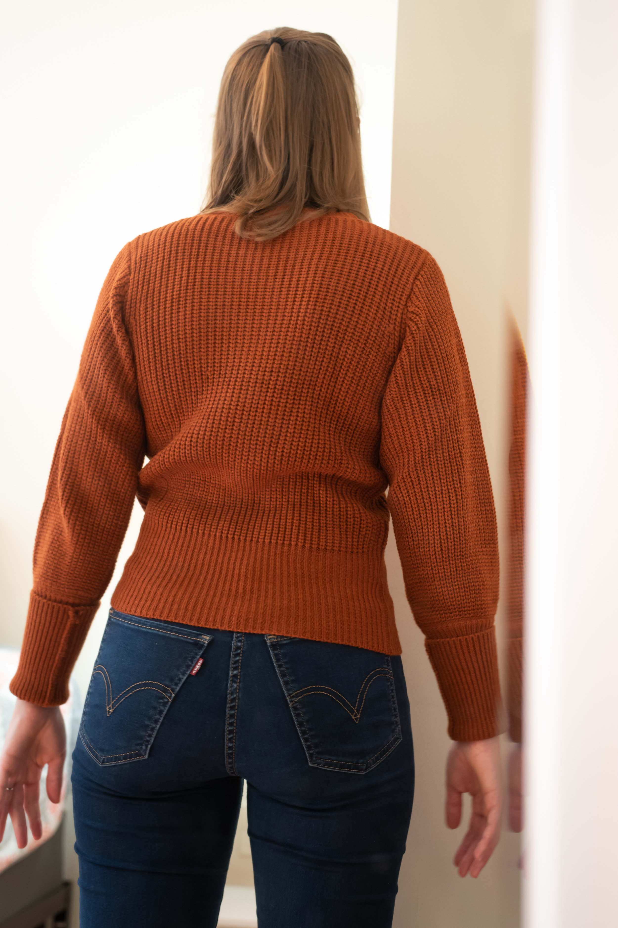 Fashion Union Petite Sweater With Fitted Rib - Size 6 Petite - BACK