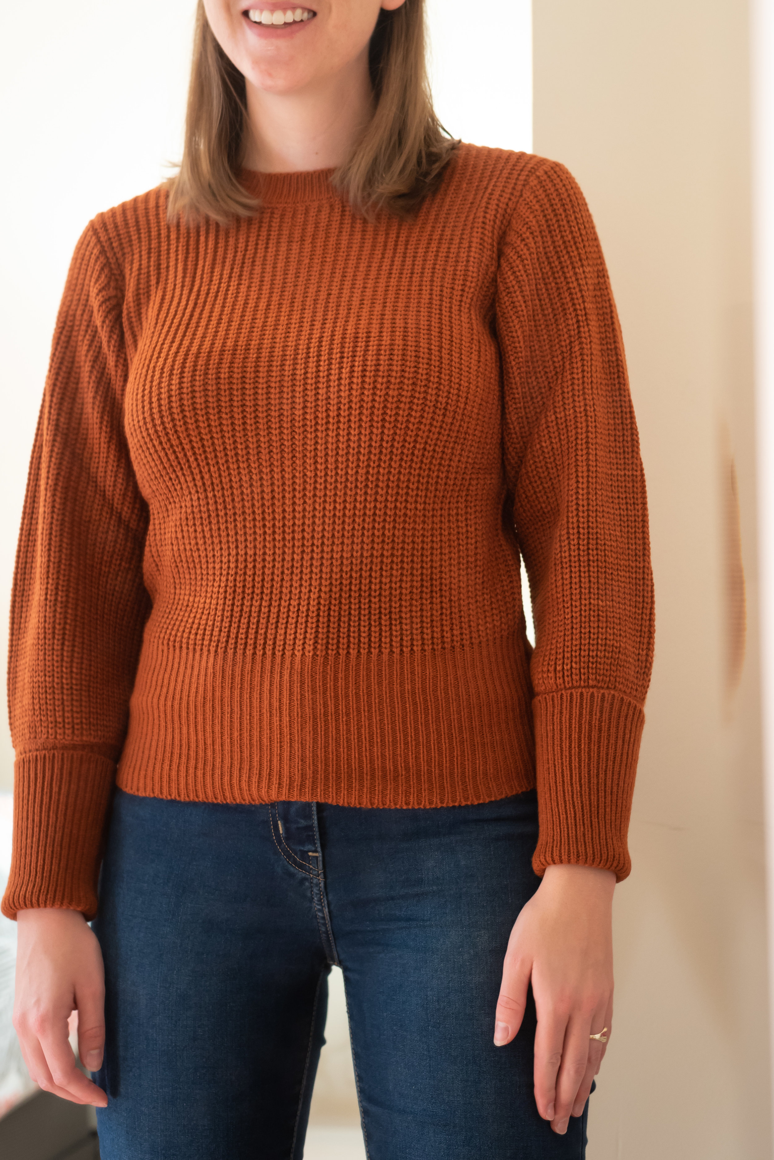 Fashion Union Petite Sweater With Fitted Rib - Size 6 Petite - FRONT