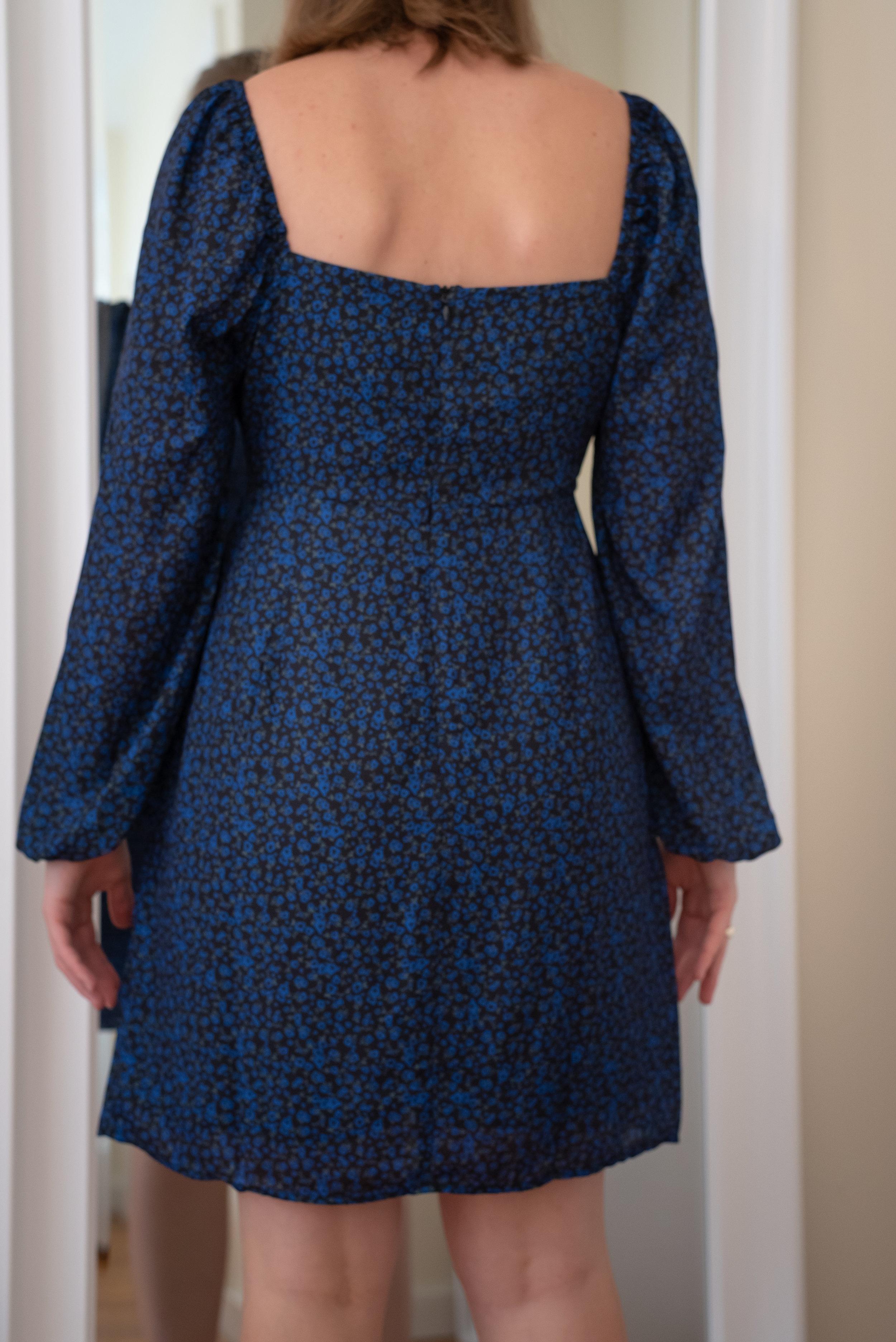 Fashion Union Petite Square Neck Tea Dress - Size 6 Petite - BACK