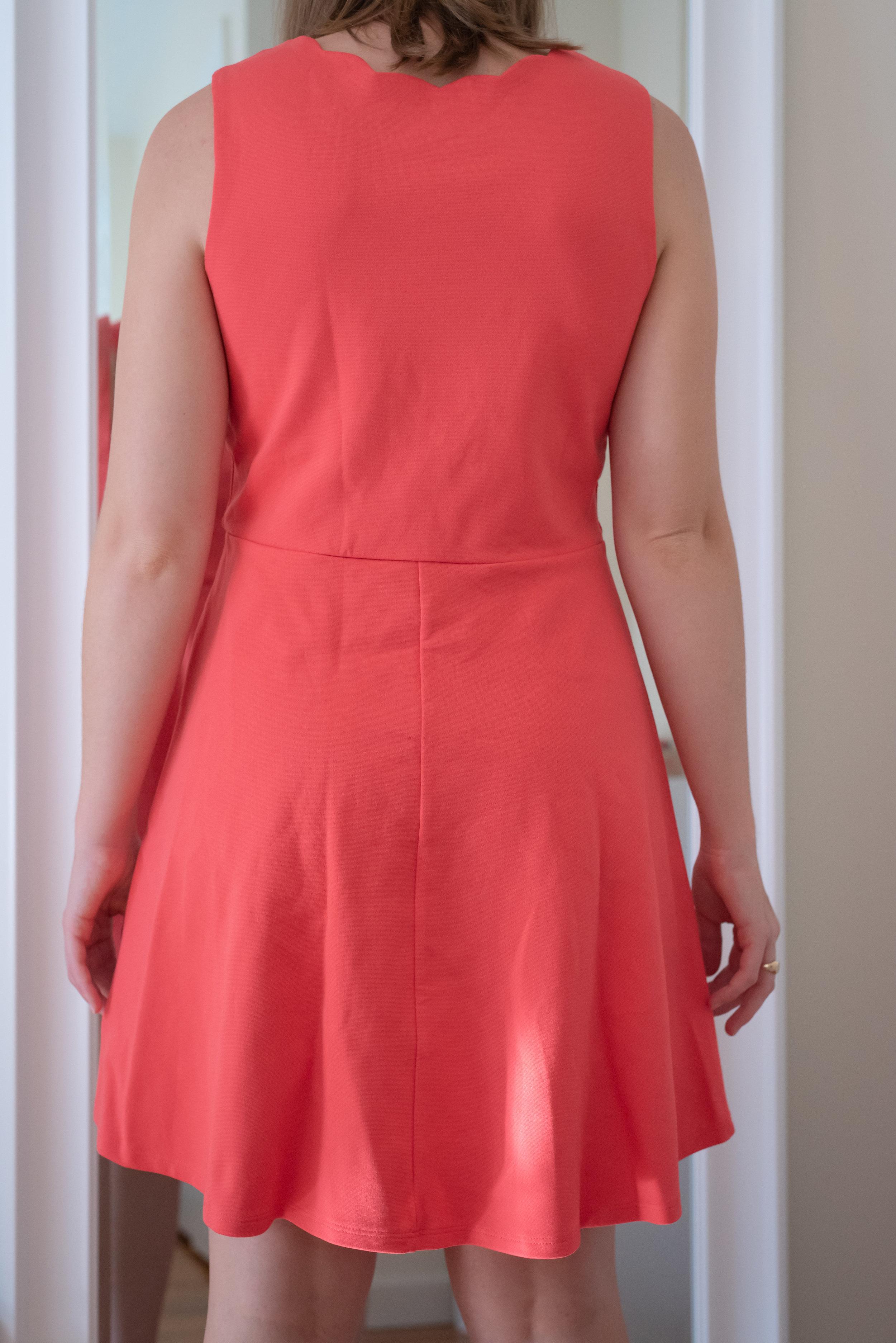 Monteau Petite Scalloped Fit & Flare Dress - Size Petite M - BACK