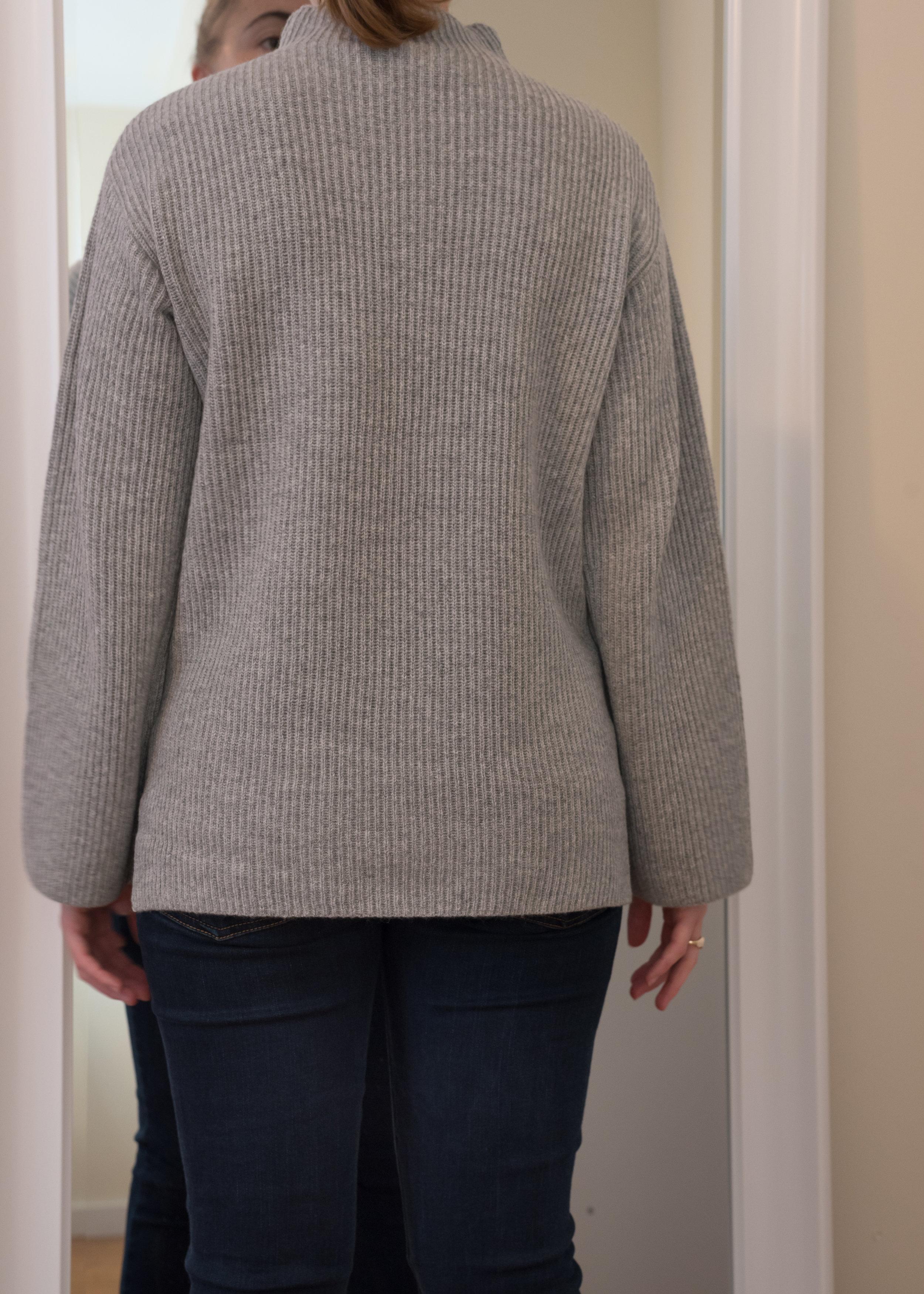 Everlane Cashmere Rib Mockneck Sweater - Size S - Back View