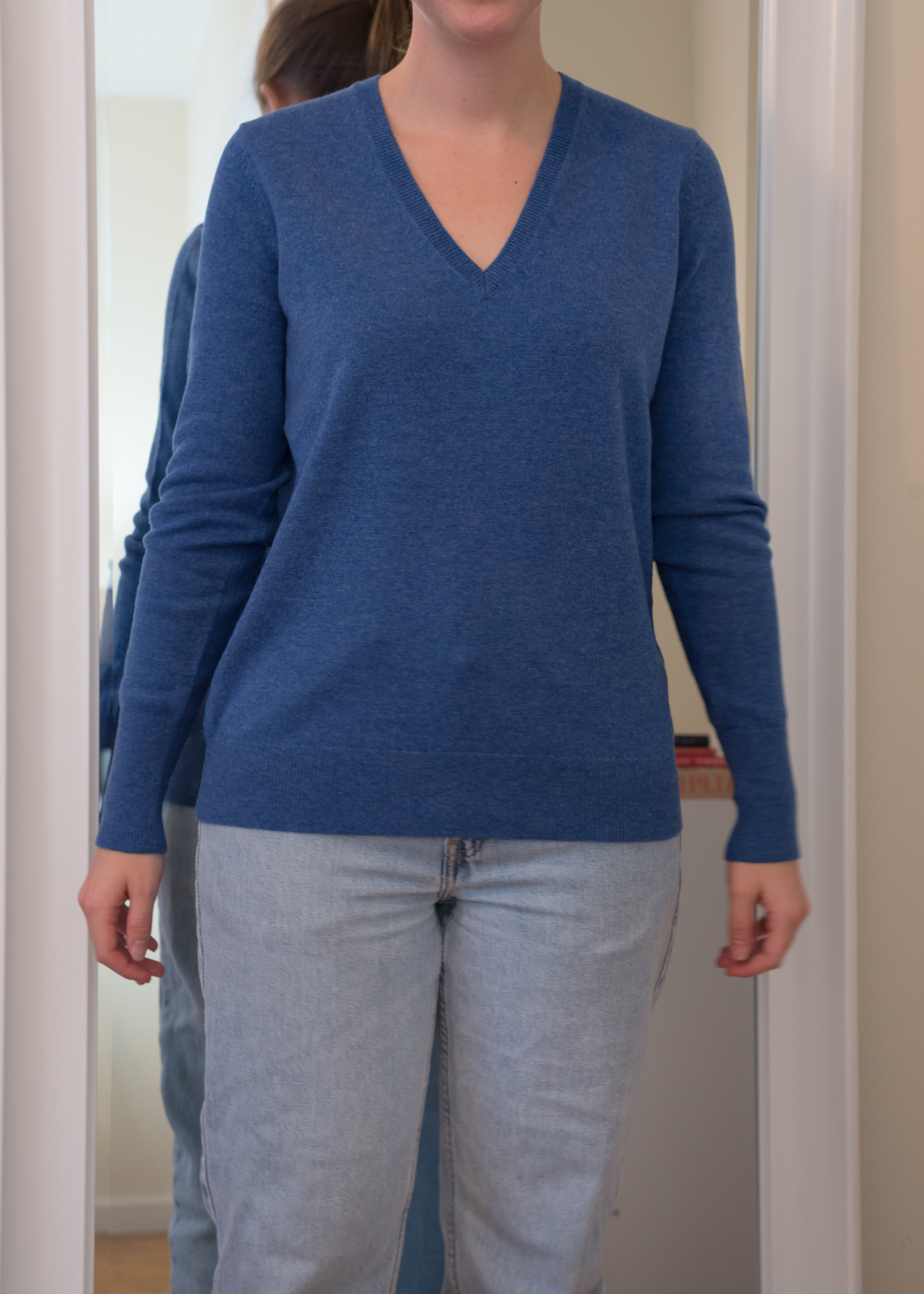 Everlane Cashmere V-Neck Sweater - Front View